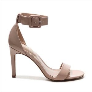 Mix No. 6   Lole Nude Ankle Strap Heeled Sandals